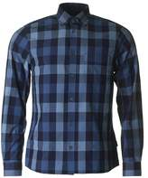 Aquascutum Luke Indigo Check Long Sleeved Shirt