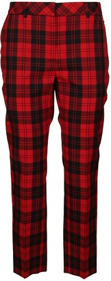Mulberry Red And Black Cotton Blend Lucie Trousers