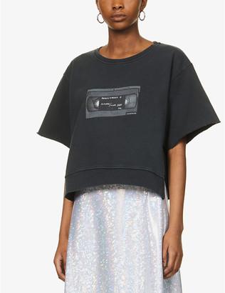 MM6 MAISON MARGIELA Branded graphic-print cotton-jersey T-shirt