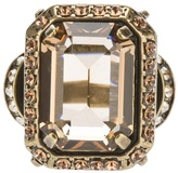Lanvin faceted gem ring