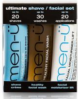 Men U men-u Ultimate Shave Facial Set - 15ml (3 Products)