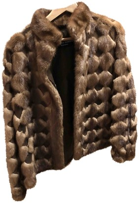 Jean Louis Scherrer Jean-louis Scherrer Brown Rabbit Coat for Women