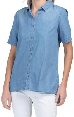 Split Back Tencel Shirt