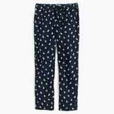 J.Crew Flannel pajama pant in rabbit print