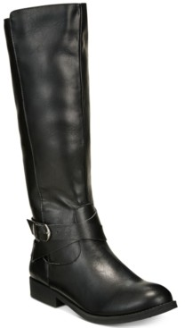 Style&Co. Style & Co Madixe Wide-Calf Riding Boots, Created for Macy's Women's Shoes