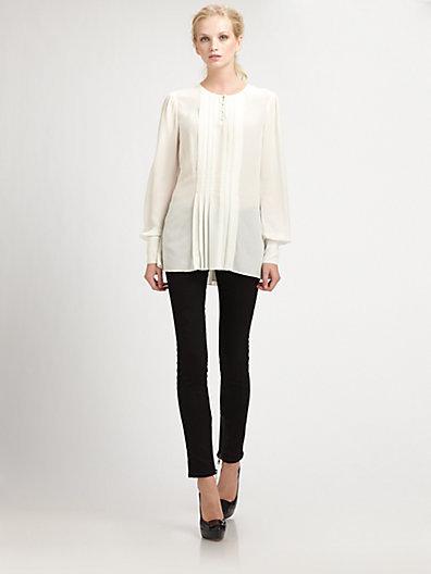Rachel Zoe Margaux Silk Tunic Top