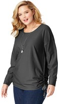 Just My Size Plus Size Side Tie Tunic Shirt