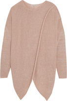 Stella McCartney Draped Stretch-knit Sweater - Beige