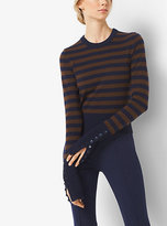 Michael Kors Striped Cashmere Pullover