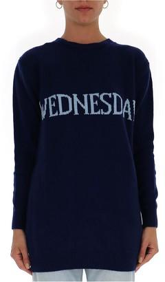 Alberta Ferretti Wednesday Mini Sweater Dress