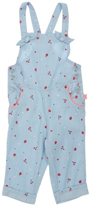 Billieblush Cherry Print Light Denim Overalls