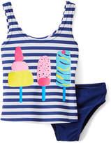 Sweet & Soft Navy Stripe Ice Cream Tankini - Infant & Toddler