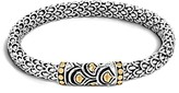 John Hardy Sterling Silver and 18K Bonded Gold Naga Chain Bracelet