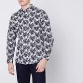 River Island Mens White Jack and Jones Premium abstract shirt