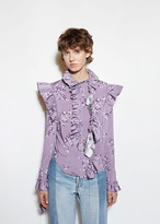 Vetements Flower Print Blouse