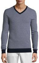Michael Kors Herringbone Merino Wool Sweater