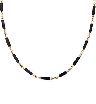 Sylva & Cie Onyx Bead Luca Chain
