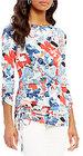 Preston & York-preston york ameila boat neck 34 sleeve printed top