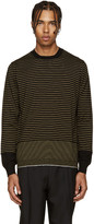Lanvin Black & Yellow Merino Sweater