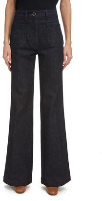 Victoria Beckham High Waist Wide Leg Jeans