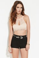 Forever 21 FOREVER 21+ Scalloped Lace Cropped Cami