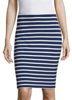 L'Agence Khamilla Striped Pencil Skirt