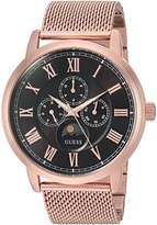 GUESS GUESS? Men's Quartz Stainless Steel Casual Watch, Color:Rose Gold-Toned (Model: U0871G5)