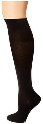 Falke Leg Vitalizer Knee High (Black) Women's No Show Socks Shoes