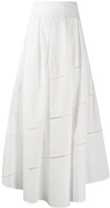 Brunello Cucinelli A-line cotton maxi skirt