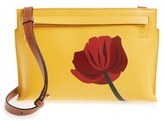 Loewe 'Fiore' Marquetry Calfskin Leather Crossbody Clutch - Yellow