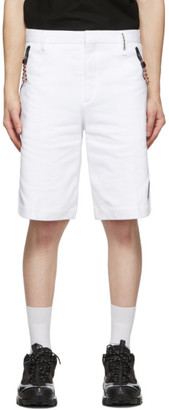 Burberry White Globe Tailored Shorts