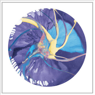 Jonathan Bass Studio Spin Art 26, Decorative Framed Hand Embellished Canvas