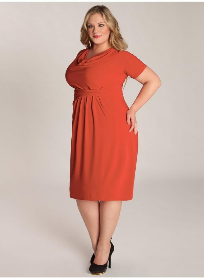 IGIGI Ippolita Plus Size Dress in Papaya