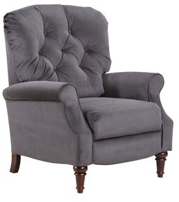 """Thumbnail for your product : August Grove Brantley 33"""" Wide Manual Club Recliner Fabric: Ash 100% Polyester"""