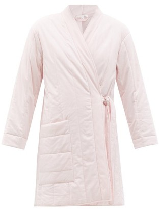 Skin Stormie Side-tie Quilted Cotton Robe - Light Pink