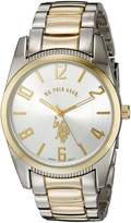 U.S. Polo Assn. Men's Two Tone Dial Metal Link Watch USC80044