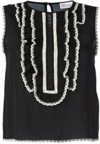 RED Valentino contrast lace trim top