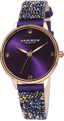 Akribos XXIV Women's Swarovski Crystal Watch