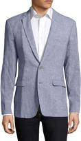 Aspetto Men's Linen Printed Notch Lapel Sportcoat