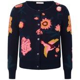 Billieblush BillieblushNavy Floral Jacquard Knitted Cardigan