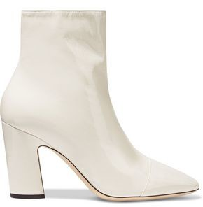 Jimmy Choo Mirren 85 Patent-leather Ankle Boots