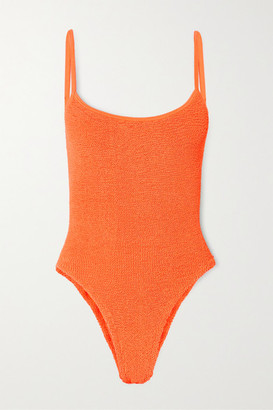 Hunza G Maria Seersucker Swimsuit