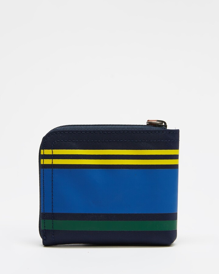 Thumbnail for your product : Polo Ralph Lauren Men's Yellow Bifold - Polo Striped Zip Wallet - Size One Size at The Iconic