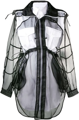 Maison Margiela Layered Organza Shirt Dress