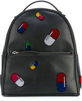Les Petits Joueurs pill backpack - women - Cotton/Calf Leather - One Size