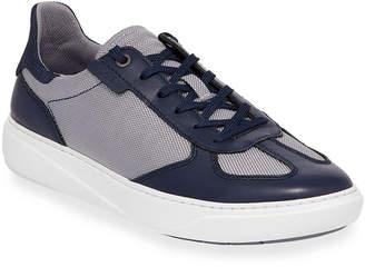 Joe's Jeans Mo Joe Leather & Mesh Low-Top Sneakers
