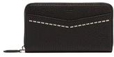 Fendi Zip-around Saffiano Leather Wallet