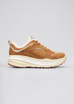 UGG Men's CA805 Suede Spill-Seam Platform Sneakers