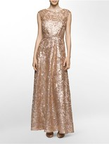 Calvin Klein Sequin Fit + Flare Gown