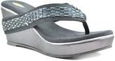 Volatile Women's Sandals CHARCOAL - Charcoal Bengi Wedge Sandal - Women